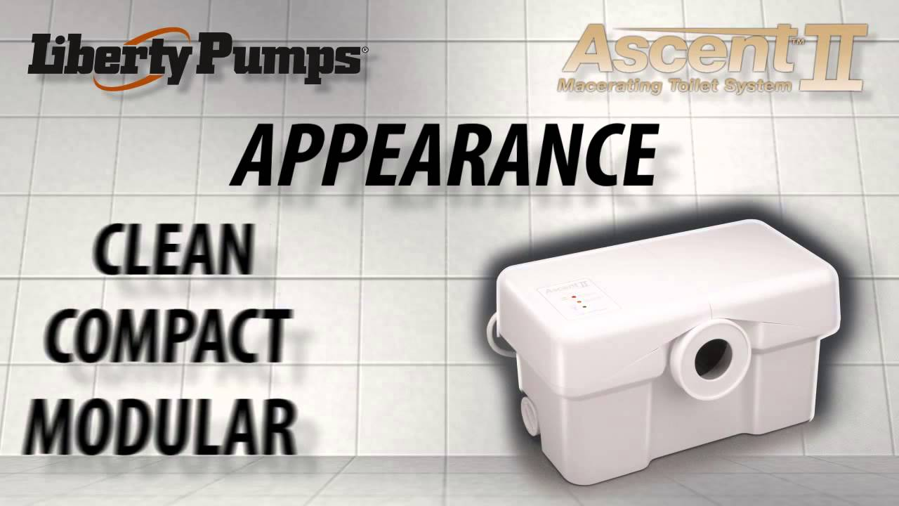 Liberty Pumps Ascent 2 Macerating Toilet System Youtube