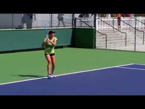 Vera Zvonareva Practice Indian Wells March 15, 2015