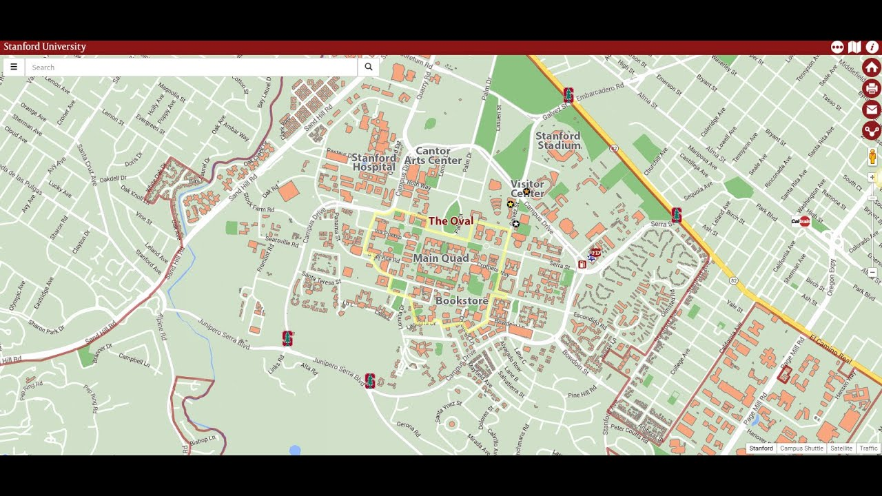 Tour of the Stanford Campus Map - YouTube