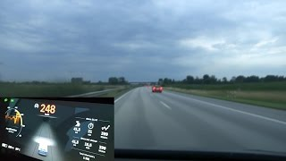 Tesla Model X P90DL on German unrestricted autobahn