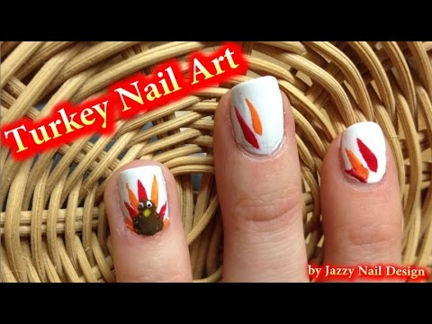 Turkey Nail Art Cute Easy Thanksgiving Nails For Beginners No
