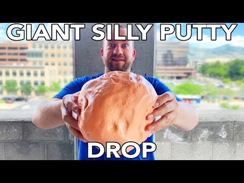 Dropping Giant Silly Putty From 40+ Feet In Slow Mo