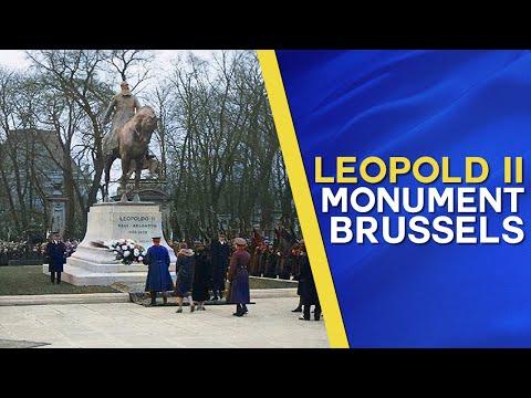 King Albert I reveals statue of Belgium's Greatest Marshal, King Leopold II The Great
