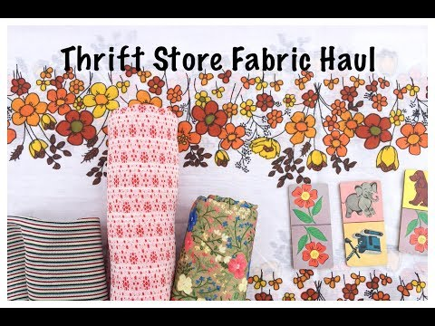 Thrift Store Fabric Haul Video: Junk Journal Collection: Jou