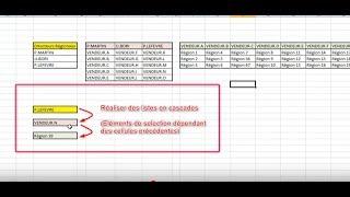 Faire des listes déroulantes en cascade sur Excel + Lien fichier