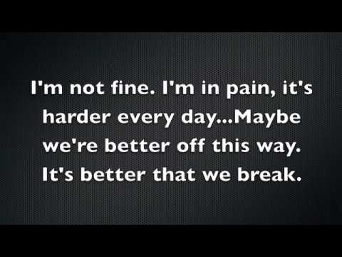 Better That We Break/Maroon 5 Lyrics