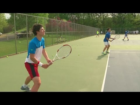 Blake's Top Tennis Players Face Tougher Competition In Practice
