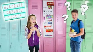 Decorate Your Crushes Locker ❤️| Easy Candy Grahm