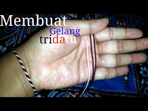 how to make tridatu ring bali||cara membuat gelang khas bali tridatu Mp3
