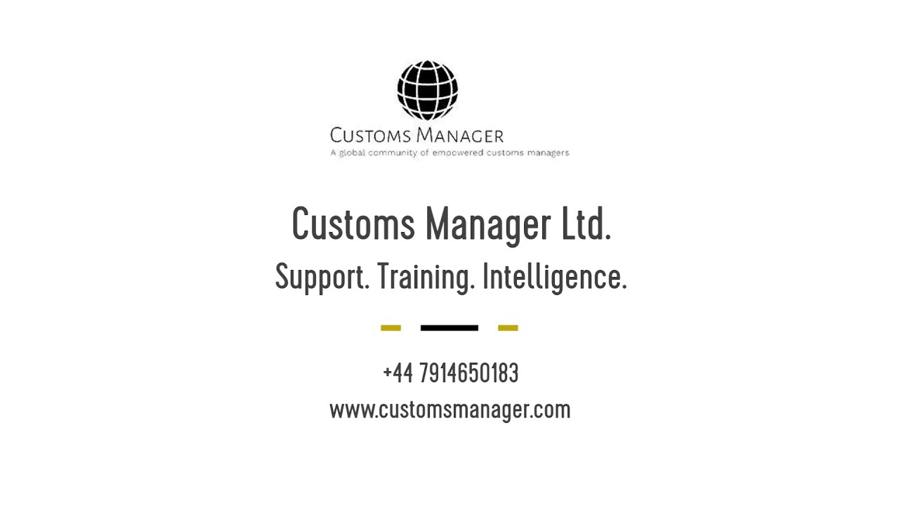 Welcome to Customs Manager Ltd.