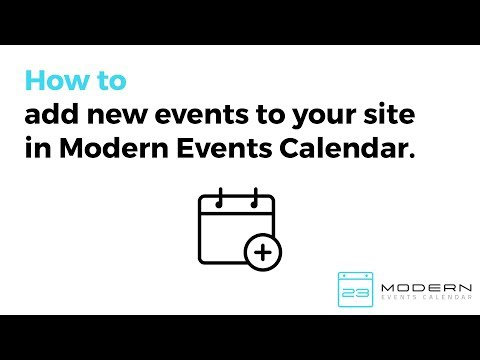 Adding New Events in Modern Events Calendar