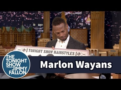 Jimmy Gives Marlon Wayans His Own Tonight Show Hairstyles Sign