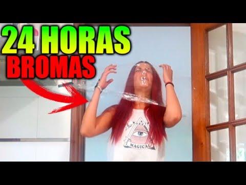 24 HORAS DE BROMAS PESADAS CON CÁMARA OCULTA !! (SE ENFADA MUCHO)
