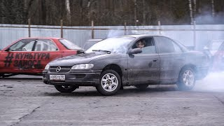 Drifting for $1000 price. Opel Omega B. [Cheap Junk]