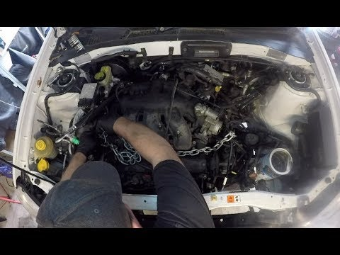 Mazda Tribute Ford Escape Engine Removal Part 2 Of 2 Youtube