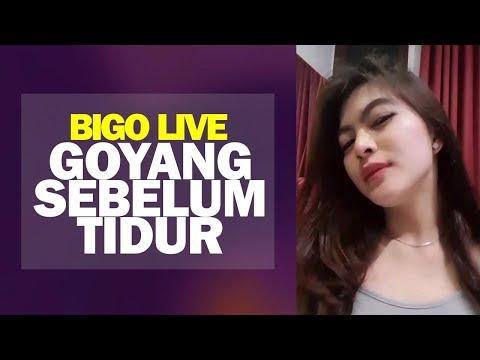 Tante Goyang Gemes Sebelum Tidur di Bigo Live