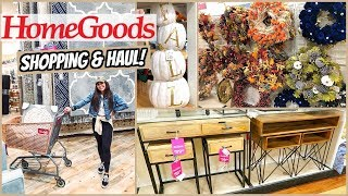 HOMEGOODS SHOP WITH ME & HAUL! FALL HOME DECOR!