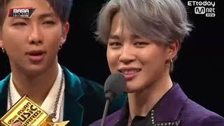 2018 MAMA BTS (방탄소년단) wins ARTIST OF THE YEAR (DAESANG) + Full Acceptance Speech