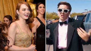 Teen asks EMMA STONE to PROM with LA LA LAND Tribute | What's Trending Now!