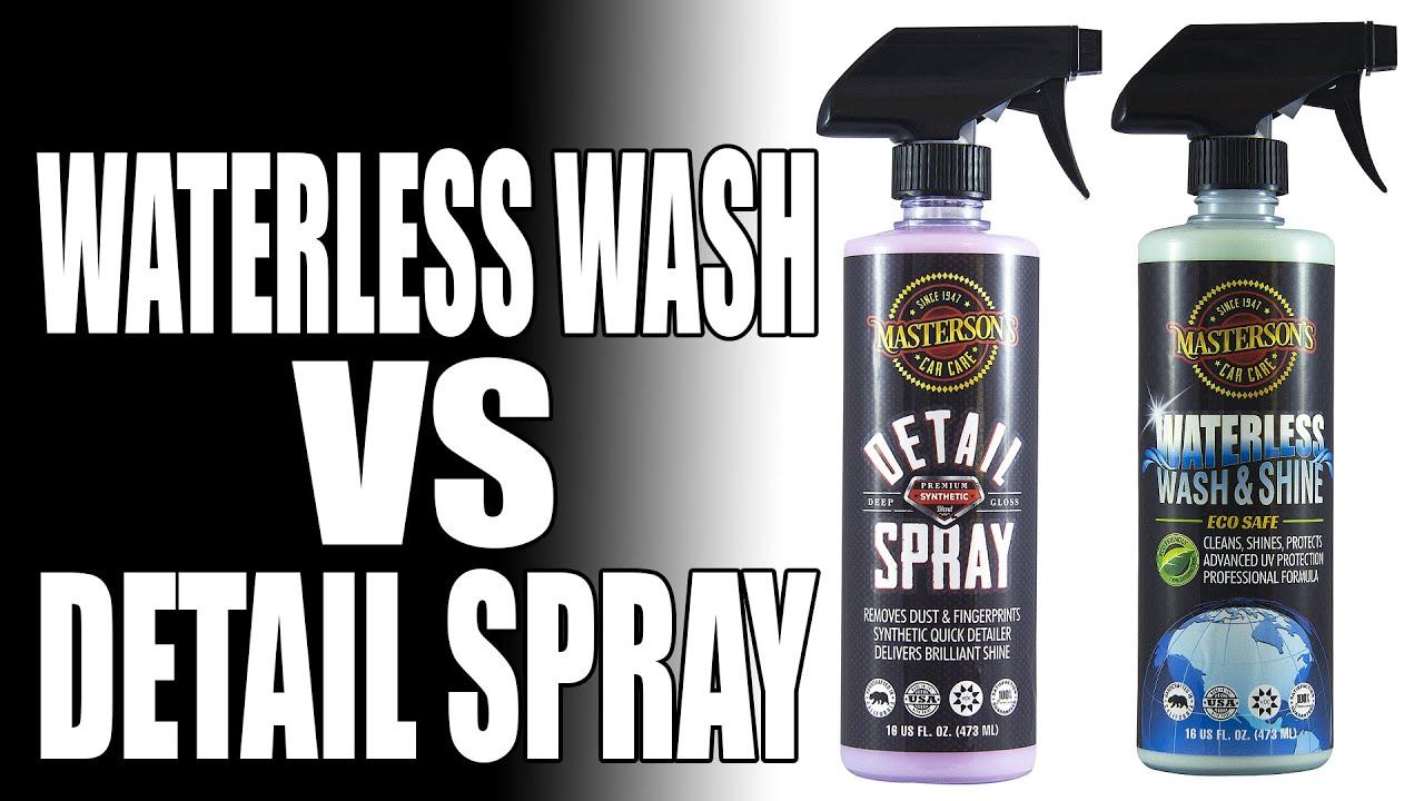 Spray Car Wash: Waterless Car Wash Vs Detail Spray
