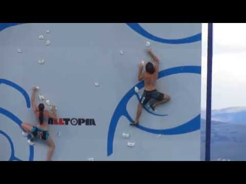Chris Sharma and Alex Johnson's 1st practice climb at the Psicobloc Masters Series 2013