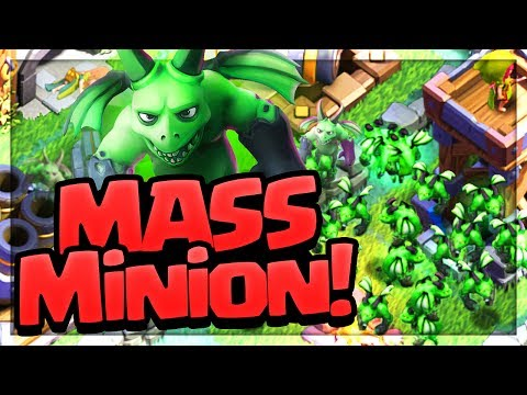 Thumbnail: MASSIVE MINIONS! All Beta Minion Attacks on Clash of Clans Builder Hall Bases!
