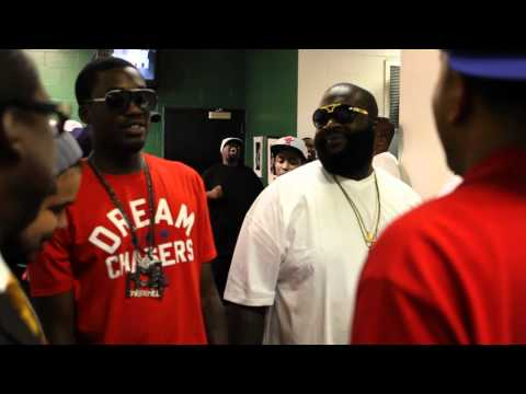 Rick Ross Backstage at Tupac 40th Birthday Celebration