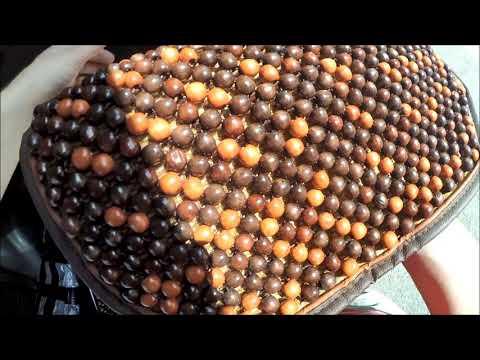 Накидки на сидения автомобиля массажные дышащие деревянные шарики распаковка отзыв обзор