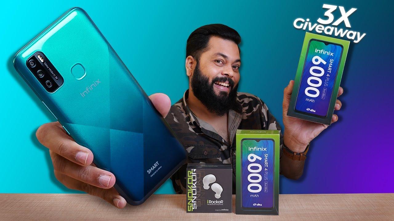 Infinix Smart 4 Plus & SNOKOR TWS Unboxing & First Impressions⚡⚡⚡Big Battery & Display (