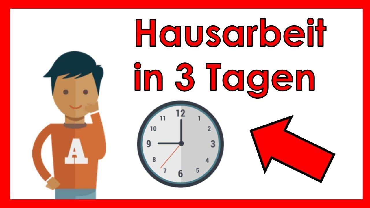 Hausarbeit In 3 Tagen Schreiben Eine Schnelle Anleitung Youtube
