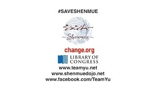 Save Shenmue! The Petition to Induct Shenmue to The Library of Congress!
