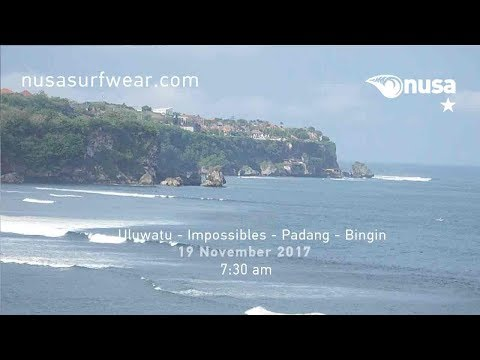 19 - 11 - 2017 /✰/ NUSA's Daily Surf Video Report from the Bukit, Bali.