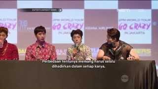 Konferensi Pers 2PM Mengenai Album Go Crazy dan Keberadaan Mereka di Indonesia