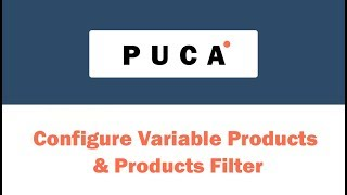 [Puca] Configure Variable Products & Products Filter