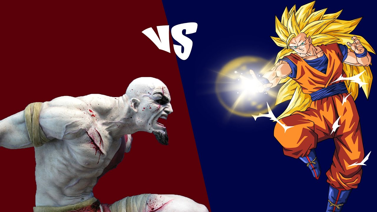 kratos vs goku ss youtube