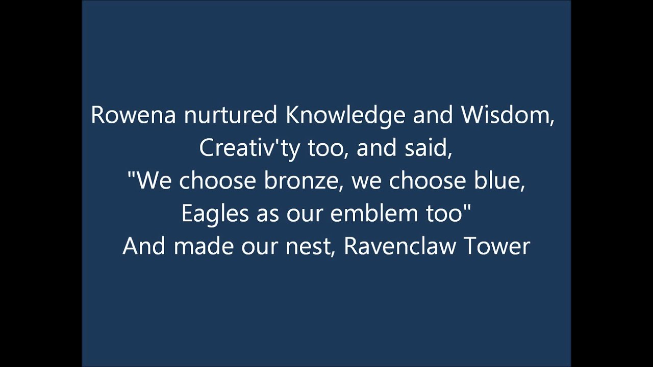 Wallpaper Girl Quotes Rowena Ravenclaw Ravenclaw Pride Song Youtube