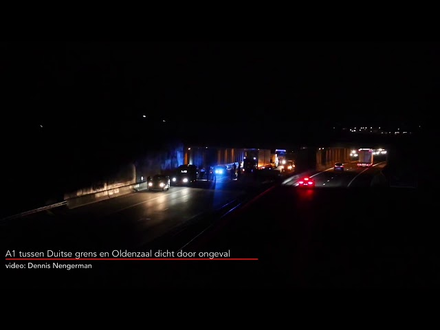 A1 tussen Duitse grens en Oldenzaal dicht door ongeval