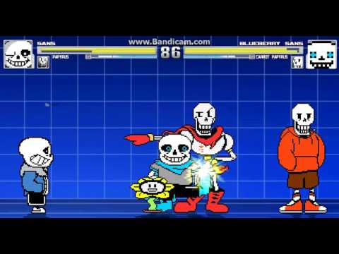 M.U.G.E.N - Sans and Papyrus vs Underswap Sans and Underswap Papyrus