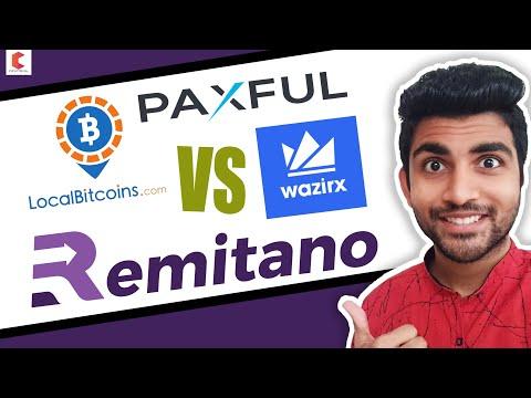 Which Is best P2P exchange wazirx vs localbitcoin vs remitano vs paxful - CRYPTOVEL