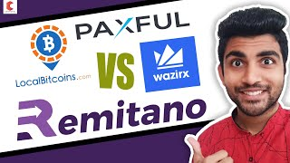 Which Is best P2P exchange wazirx vs localbitcoin vs remitano vs paxful - CRYPTOVEL
