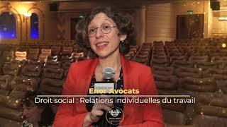 Palmarès du Droit 2021   Enor Avocats   Droit social Relations individuelles du travail