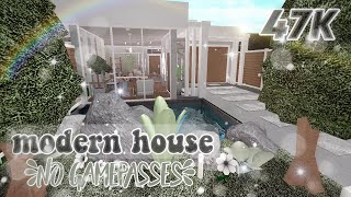 Roblox | Bloxburg: 47k Modern House (No Gamepasses) | House Build