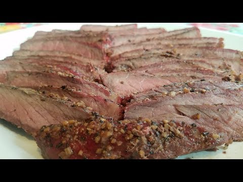 Smoked And Seared London Broil
