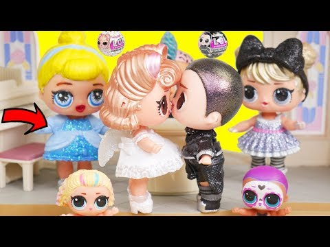 Barbie LOL Family Wedding Cleaning Morning Routine - Disney Toys Dolls
