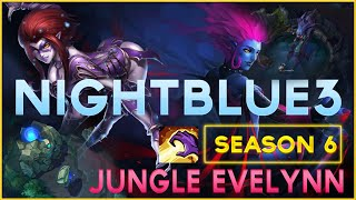 NightBlue3 -Jungle Patch 6.9 CHALLENGER Jungle Variety - Evelynn Carry -【League of Legend】