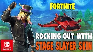 Rocking Out With Stage Slayer Skin!! (Nintendo Switch) - Fortnite Battle Royale Gameplay