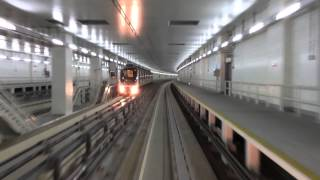 Dubai Airport Skytrain T3 to A-concourse full ride