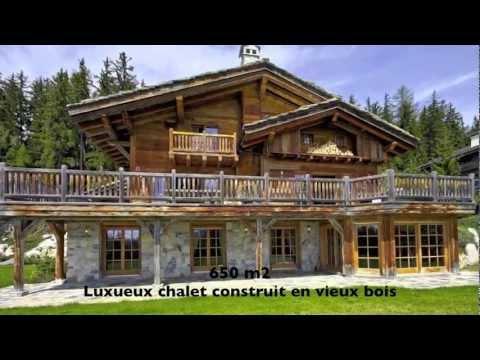 Magnifique Grand Chalet de Luxe à Vendre - La Grange de Crehavouettaz - Crans-Montana Valais Suisse
