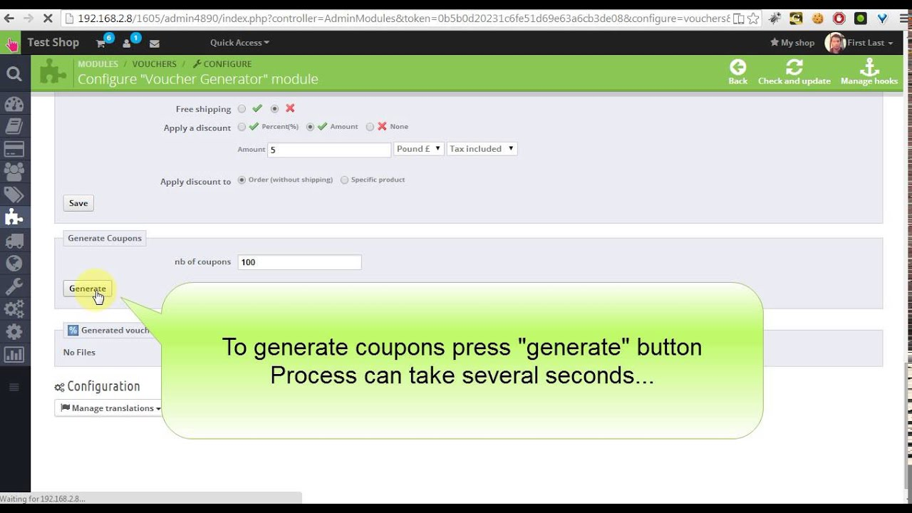 Prestashop 1.6 single use coupons