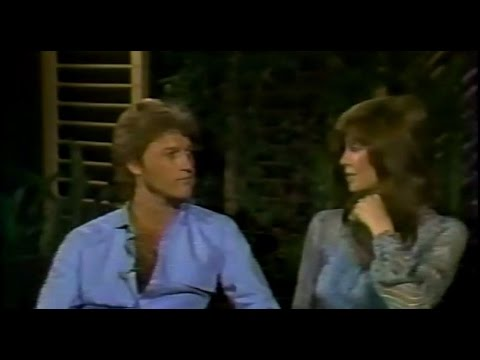 Andy Gibb and Victoria Principal on the Phil Donahue